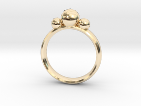 GeoJewel Ring UK Size R US Size 8 5/8 in 14k Gold Plated Brass