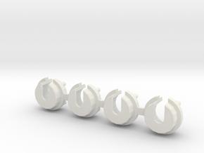 Tlt-1 Stock Shock Cup in White Natural Versatile Plastic
