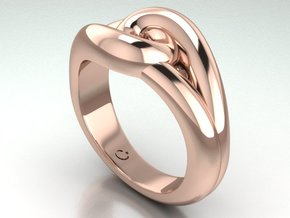 True lover's knot in 14k Rose Gold Plated
