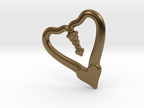 TWO HEARTS ONE LOVE in Natural Bronze