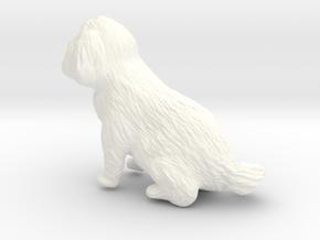 5 Inch Dog in White Processed Versatile Plastic