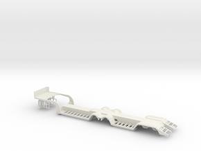 000020 HO 1:87 Tieflader Trailer in White Natural Versatile Plastic: 1:87