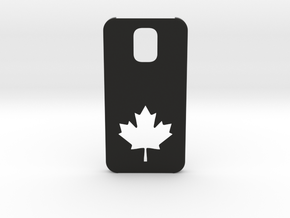Samsung Galaxy S5 Case: Canada in Black Natural Versatile Plastic