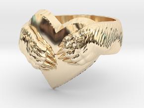 """Bear hug"" Ring in 14k Gold Plated Brass: 11.5 / 65.25"