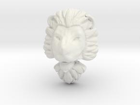 Pendant for ring2(lion) in White Natural Versatile Plastic