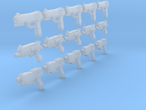 28mm Sci Fi pistols (15) in Frosted Ultra Detail