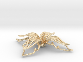 fleur de lys, giglio, lily in 14k Gold Plated Brass