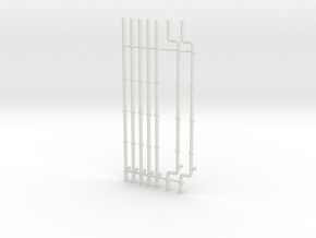 Warehouse Drain Pipes in HO Scale in White Natural Versatile Plastic