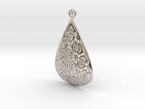 PA Pendant Ef002Se84bU23H30a07 in Rhodium Plated Brass