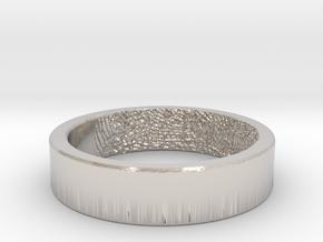 Fingerprint Ring - His in Platinum