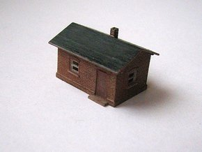 Gatekeeper house Z scale in Smooth Fine Detail Plastic