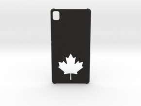 Sony Xperia Z3 Case: Canada in Black Natural Versatile Plastic