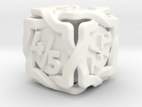 'Twined' Dice D6 Gaming Die Tarmogoyf P/T Version in White Processed Versatile Plastic