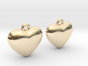 Heart Earrings in 14k Gold Plated Brass