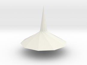 Spinning top PT v2 in White Natural Versatile Plastic