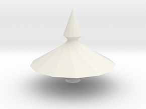 Spinning top PT v10 in White Strong & Flexible