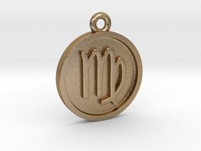 Virgo/Jungfrau Pendant in Polished Gold Steel