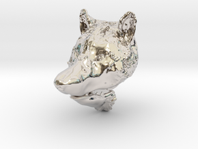 Pendant for ring(Wolf) in Rhodium Plated Brass