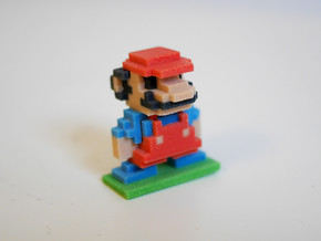 8Bit Mario Small in Full Color Sandstone