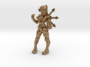 1/18 Cultist miniature in Natural Brass
