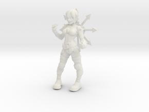 1/18 Cultist miniature in White Natural Versatile Plastic