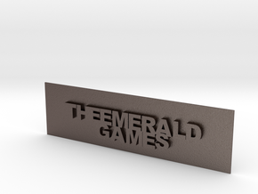 THE EMERALD GAMES PLAT in Polished Bronzed Silver Steel