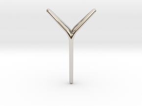 YOUNIVERSAL Fine Pendant. Soft Elegance in Rhodium Plated Brass