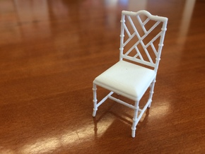 1:24 Chinese Chippendale Chair in White Strong & Flexible