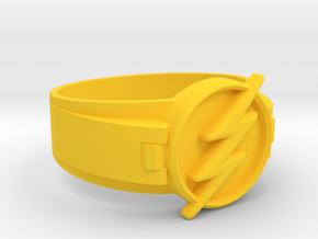Flash Ring Size 12 21.49mm in Yellow Processed Versatile Plastic