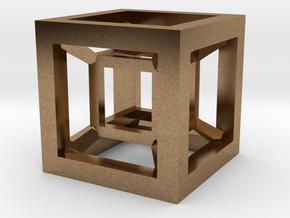 4D Hypercube in Natural Brass
