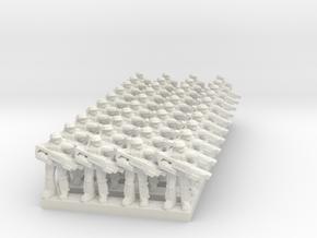 Sci-Fi Infantry 10mm in White Natural Versatile Plastic