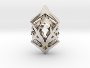 HEAD TO HEAD Symbiotic, Pendant  in Rhodium Plated Brass
