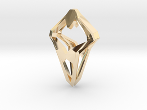 Prototype, Pendant. Sharp Chic in 14k Gold Plated Brass