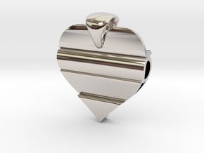Secret Love Pendant in Rhodium Plated Brass