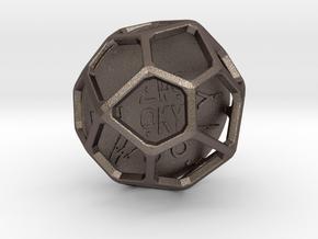 ZWOOKY Style 3400  -  Sphere in Polished Bronzed Silver Steel