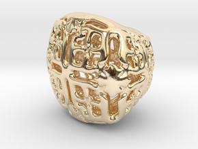 PA Sharm V21 H11x15x13SE731 in 14k Gold Plated Brass