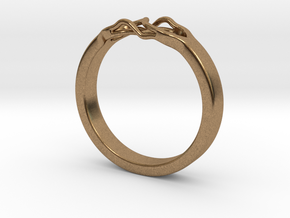 Roots Ring (18mm / 0,7inch inner diameter) in Natural Brass
