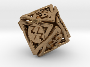 'Twined' Dice D8 Spindown Tarmogoyf P/T Die in Natural Brass