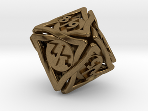 'Twined' Dice D8 Spindown Tarmogoyf P/T Die in Natural Bronze