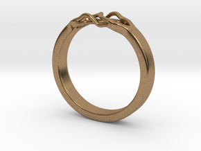 Roots Ring (20mm / 0,78inch inner diameter) in Natural Brass