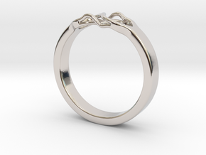 Roots Ring (23mm / 0,9inch inner diameter) in Rhodium Plated Brass