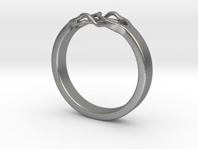 Roots Ring (22mm / 0,86inch inner diameter) in Natural Silver