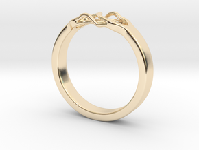 Roots Ring (29mm / 1,14inch inner diameter) in 14k Gold Plated Brass