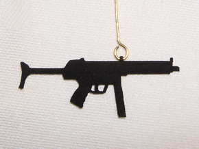 MP5 Earring Pendant in Black Natural Versatile Plastic
