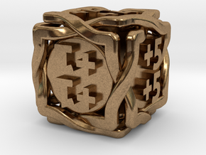'Twined' Dice D6 MTG +1/+1 Counters die in Natural Brass