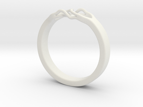 Roots Ring (26mm / 1,02inch inner diameter) in White Natural Versatile Plastic
