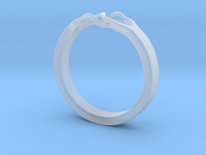 Roots Ring (25mm / 0,98inch inner diameter) in Smooth Fine Detail Plastic