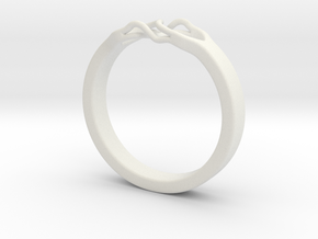 Roots Ring (29mm / 1,14inch inner diameter) in White Natural Versatile Plastic