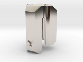 Lanyard Clip Bead - Large in Platinum