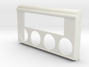 1953 to 1958 Standard 8/10 Dash Radio Gauge Plate in White Natural Versatile Plastic